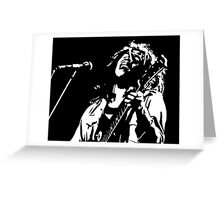 Bob Marley black/white Greeting Card