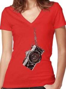 A Special Camera Angle Women's Fitted V-Neck T-Shirt