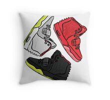 Yeezy Trifecta Throw Pillow