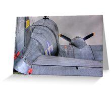 Douglas DC-3 - HDR - Shoreham Airshow 2010 Greeting Card