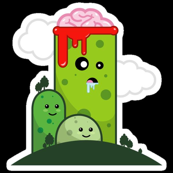 Lobotomy Hill Creepy Kawaii Graphic Tees & Stickers by BeataViscera