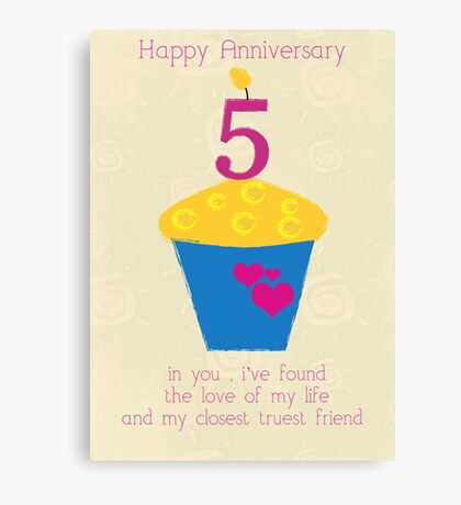 Happy Anniversary collection Canvas Print