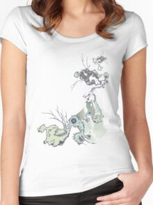 in the future there are no bird baths ... Women's Fitted Scoop T-Shirt