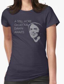 Carl Sagan - A Glorious Dawn (Grey) Womens Fitted T-Shirt