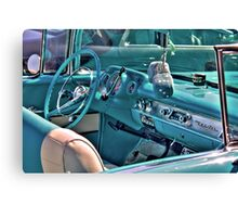 Chevy Bel-Air Convertible-interior Canvas Print