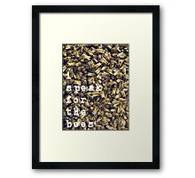Like the Lorax but for bees  Framed Print