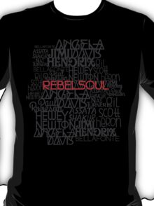 Rebel Soul Angela Davis Gil Scott Heron Getup T-Shirt