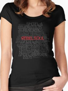 Rebel Soul Angela Davis Gil Scott Heron Getup Women's Fitted Scoop T-Shirt