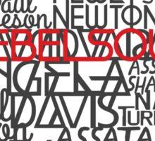 Rebel Soul Angela Davis Gil Scott Heron Getup Sticker