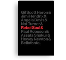 Rebel Soul Helvetica Ampersand T-Shirts & More Canvas Print