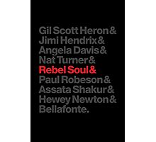 Rebel Soul Helvetica Ampersand T-Shirts & More Photographic Print