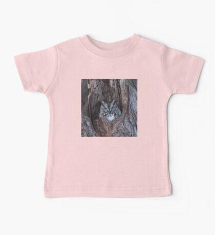 Little Screech Owl Grey Phase Baby Tee