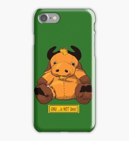 GNU...is NOT the same as UNIX! iPhone Case/Skin