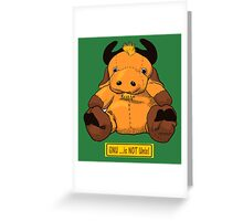 GNU...is NOT the same as LINUX! Greeting Card