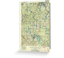 Massachusetts  USGS Historical Topo Map MA Webster 353095 1921 62500 Greeting Card