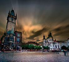 Old Town Square, Prague by Stevacek