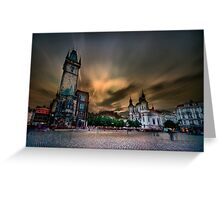 Old Town Square, Prague Greeting Card