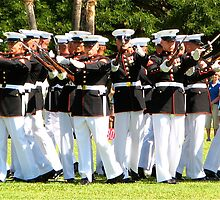US Marine Corps Silent Drill Team by David Davies