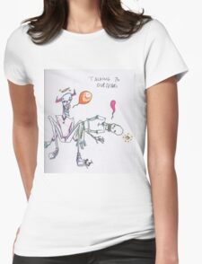 talking to ourselves Womens Fitted T-Shirt