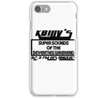 Super Sounds of the 70's Weekend (Black) iPhone Case/Skin