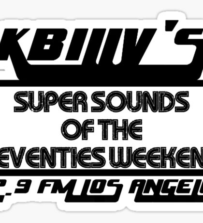 Super Sounds of the 70's Weekend (Black) Sticker