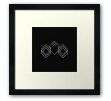 Lodent Logo (White on Black/Glitched) Framed Print