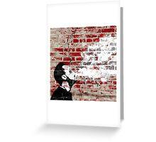 Graffiti Man Vaping Greeting Card
