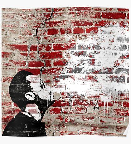 Graffiti Man Vaping Poster
