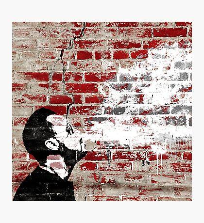 Graffiti Man Vaping Photographic Print