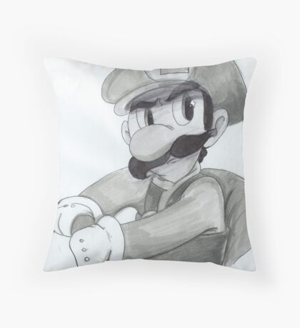 Mario Kart Luigi Throw Pillow