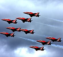 Red Arrows Display Team by Lizzylocket