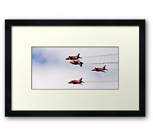 Red Arrows Fly-By Framed Print