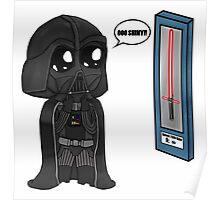 Darth Vader Shopping Chibi  Poster