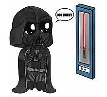 Darth Vader Shopping Chibi  Photographic Print