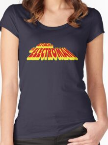Attack of the Electroman - Title...Clean Women's Fitted Scoop T-Shirt