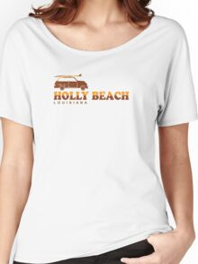 Holly Beach - Cajun Riviera. Women's Relaxed Fit T-Shirt
