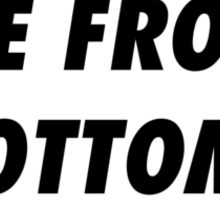 The Front Bottoms Black And White Sticker