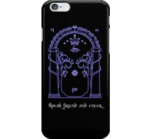 Speak friend and enter (Dark tee) iPhone Case/Skin