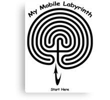 My Mobile Layrinth Canvas Print