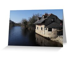 Coffee time on the River Greeting Card