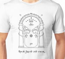 Speak friend and enter (light tee) Unisex T-Shirt