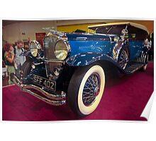 Duesenburg 1931 Model J Derham body Tourster Poster