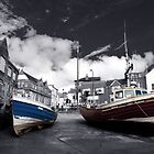Boats at Scarborough by Rob Hawkins