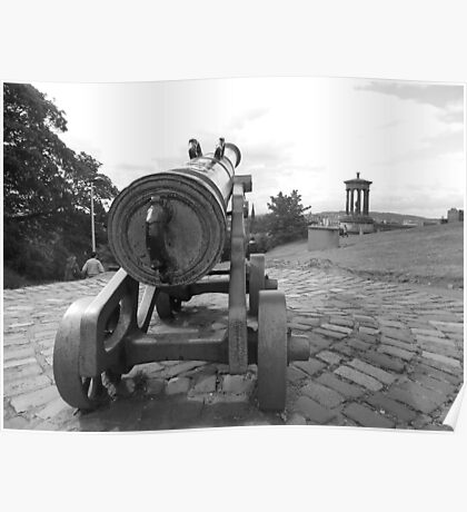 old canon in B&W Poster
