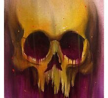 Yellow Skull by matttruiano