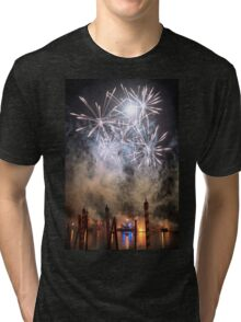 Fireworks on the Lagoon III Tri-blend T-Shirt