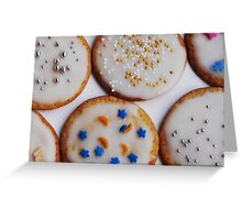 Lemon iced biscuits Greeting Card