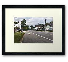 Road through the Town Framed Print