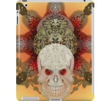 Skull on red and yellow iPad Case/Skin
