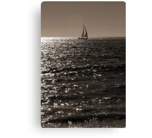 Waves & Sailboat One Canvas Print